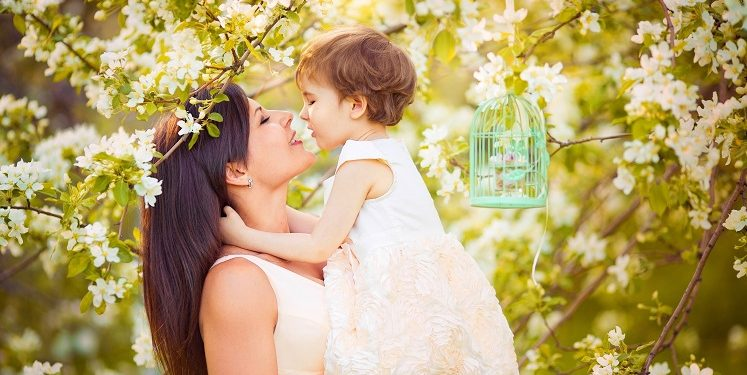 Картинки весна дети мама
